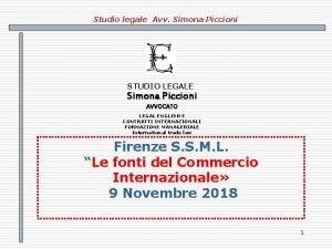 Studio legale Avv Simona Piccioni STUDIO LEGALE Simona
