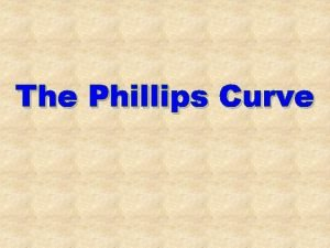 The Phillips Curve The Phillips Curve Inflation Rate
