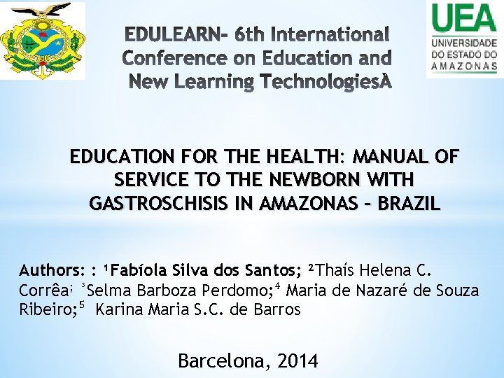 EDULEARN EDUCATION FOR THE HEALTH MANUAL OF SERVICE