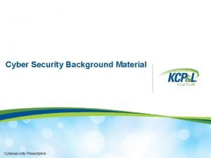 Cyber Security Background Material Cybersecurity Presentation Content Cybersecurity