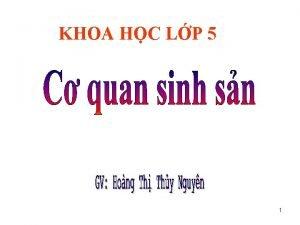 KHOA HC LP 5 1 Khoa hc 2
