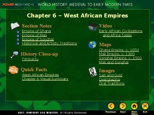 Chapter 6 West African Empires Section Notes Video