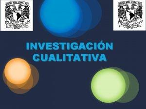 INVESTIGACIN CUALITATIVA CAPITULO V METODOLOGA CUALITATIVA DE LA