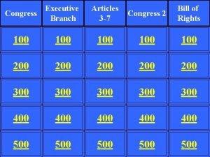 Executive Congress Branch Articles 3 7 Congress 2