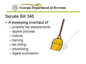 Georgia Department of Revenue Senate Bill 346 A