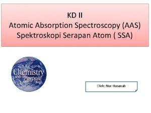 KD II Atomic Absorption Spectroscopy AAS Spektroskopi Serapan