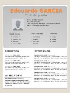 Edouardo GARCIA Ttulo del puesto MAIL mailmail com