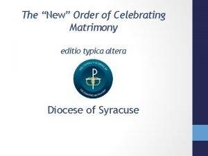 The New Order of Celebrating Matrimony editio typica