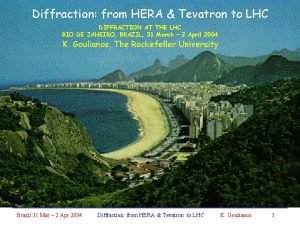 Diffraction from HERA Tevatron to LHC DIFFRACTION AT