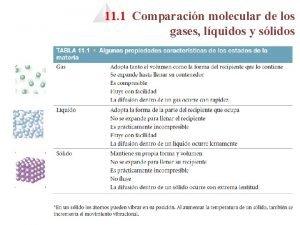 11 1 Comparacin molecular de los gases lquidos