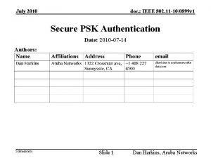 July 2010 doc IEEE 802 11 100899 r