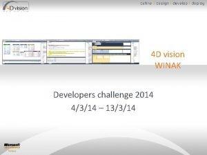 4 D vision WINAK Developers challenge 2014 4314
