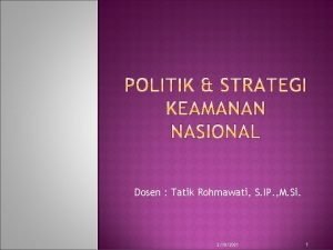 Dosen Tatik Rohmawati S IP M Si 2182021
