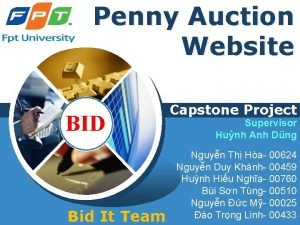 Penny Auction Website LOGO BID Bid It Team