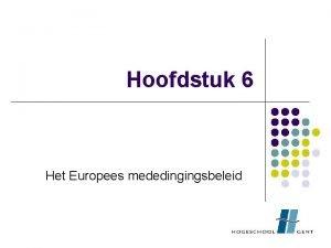 Hoofdstuk 6 Het Europees mededingingsbeleid Prijs Audi A