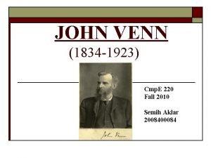 JOHN VENN 1834 1923 Cmp E 220 Fall