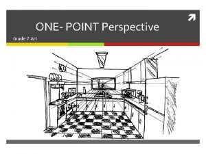 ONE POINT Perspective Grade 7 Art ONEPOINT PERSPECTIVE