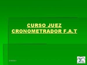 CURSO JUEZ CRONOMETRADOR F A T 2182021 ART