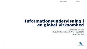 Biblioteksparaplyen 2182021 1 Informationsundervisning i en global virksomhed