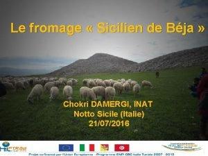 Le fromage Sicilien de Bja Chokri DAMERGI INAT