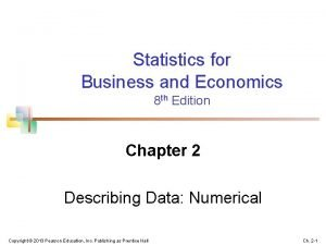 Statistics for Business and Economics 8 th Edition
