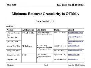 Mar 2015 doc IEEE 802 11 150375 r