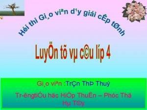 Gio vin Trn Th Thu Tr ngtiu hc