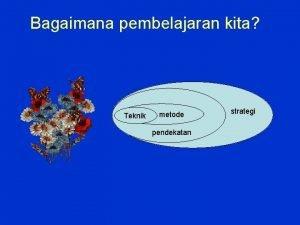Bagaimana pembelajaran kita Teknik metode pendekatan strategi Pemecahan