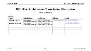October 2020 doc IEEE 802 11 201122 r