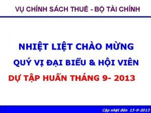 V CHNH SCH THU B TI CHNH NHIT