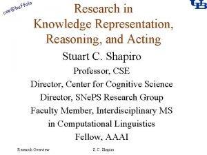 alo cse f buf Research in Knowledge Representation