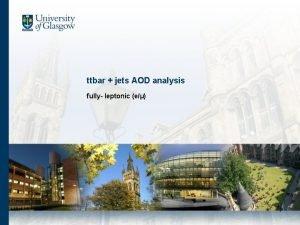 ttbar jets AOD analysis fully leptonic e 1