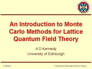 An Introduction to Monte Carlo Methods for Lattice