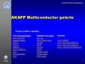 AKAPP electro industrie bv AKAPP Multiconductor galerie Prosm