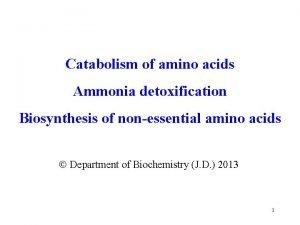 Catabolism of amino acids Ammonia detoxification Biosynthesis of