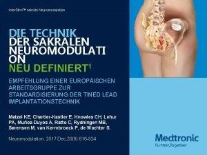 Inter Stim TM sakrale Neuromodulation DIE TECHNIK DER