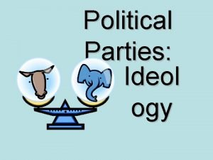 Political Parties Ideol ogy Which political party are