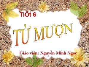 Tit 6 Gio vin Nguyn Minh Ngc I