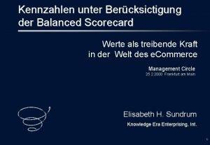 Kennzahlen unter Bercksictigung der Balanced Scorecard Werte als
