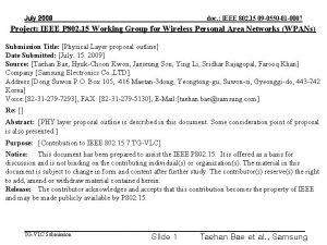 doc IEEE 802 15 09 0550 01 0007