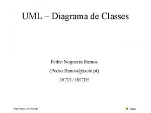 UML Diagrama de Classes Pedro Nogueira Ramos Pedro