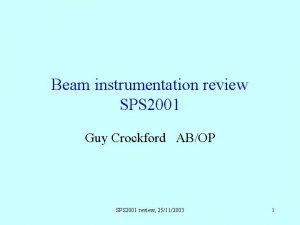 Beam instrumentation review SPS 2001 Guy Crockford ABOP