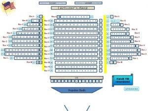 Screen Lecturers desk Row A Row B Row
