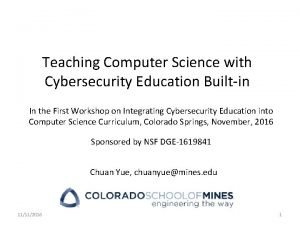 Teaching Computer Science with Cybersecurity Education Builtin In