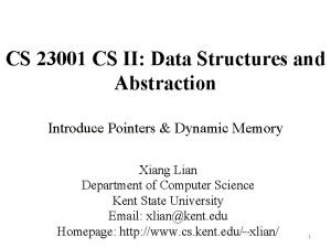 CS 23001 CS II Data Structures and Abstraction