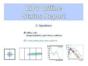 ZDC Offline Status Report C Oppedisano offline code