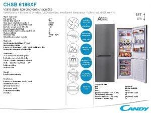 CHSB 6186 XF Voln stojc kombinovan chladnika Ventilovan
