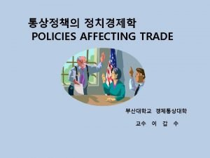 Tariffs Charges and Related Policies 1 Tariffs customs