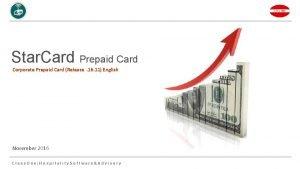 Star Card Prepaid Card Corporate Prepaid Card Release