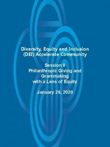 Diversity Equity and Inclusion DEI Accelerate Community Session